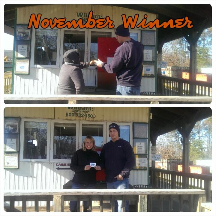 Customer Appreciation November Winner