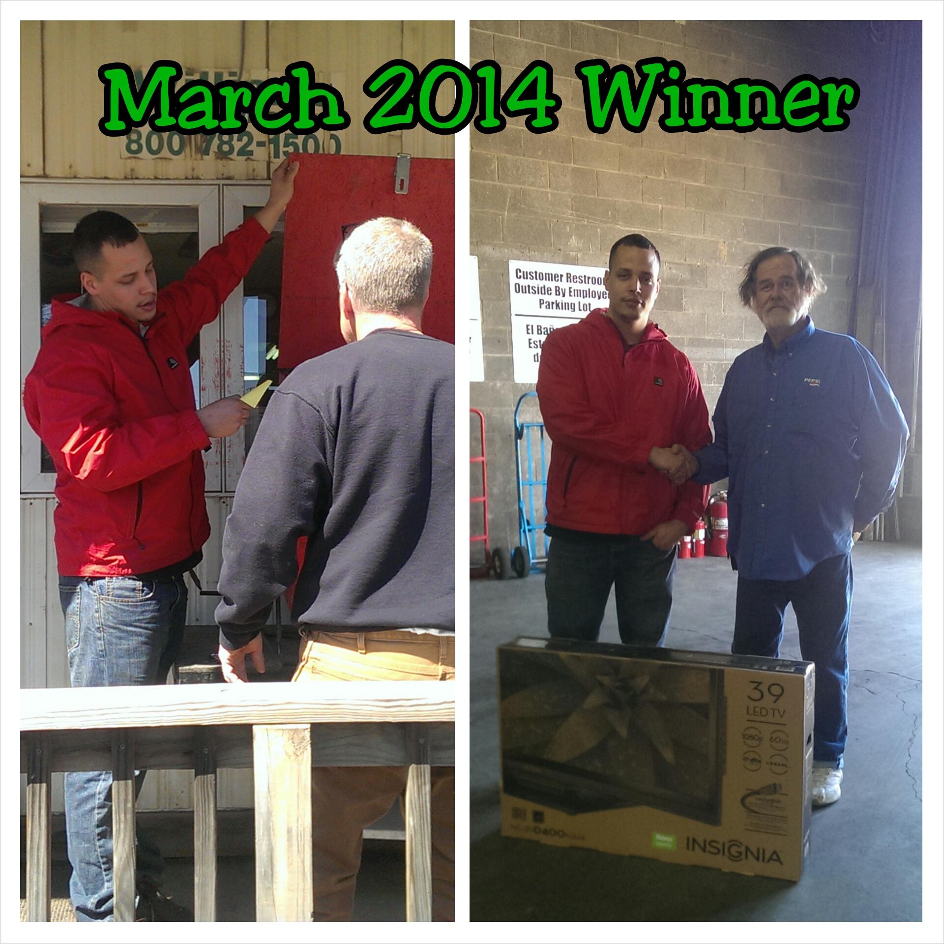 Customer Appreciation March Winner