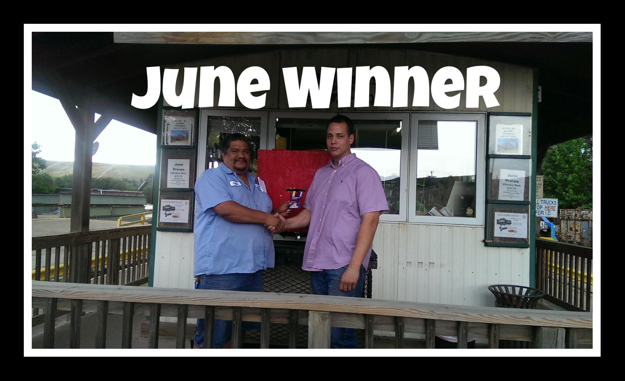 Customer Appreciation June Winner